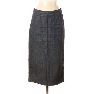 Max Mara midi pencil skirt denim fitted